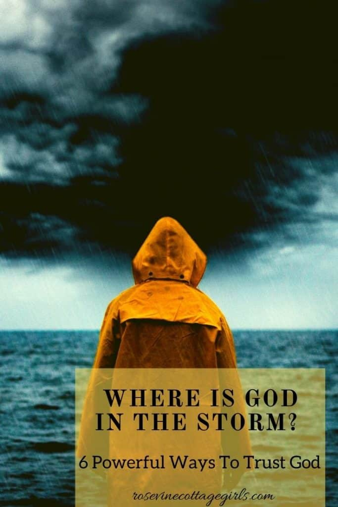 Person standing on the shore during storm | 6 powerful ways to keep trusting that He is God in the Storm