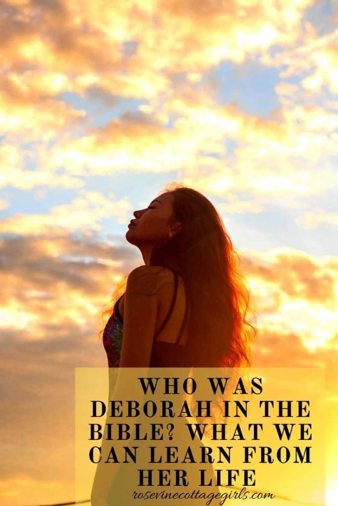 Woman standing in the glow of a sunset | What we can learn from Deborah's life and how it impacts us today
