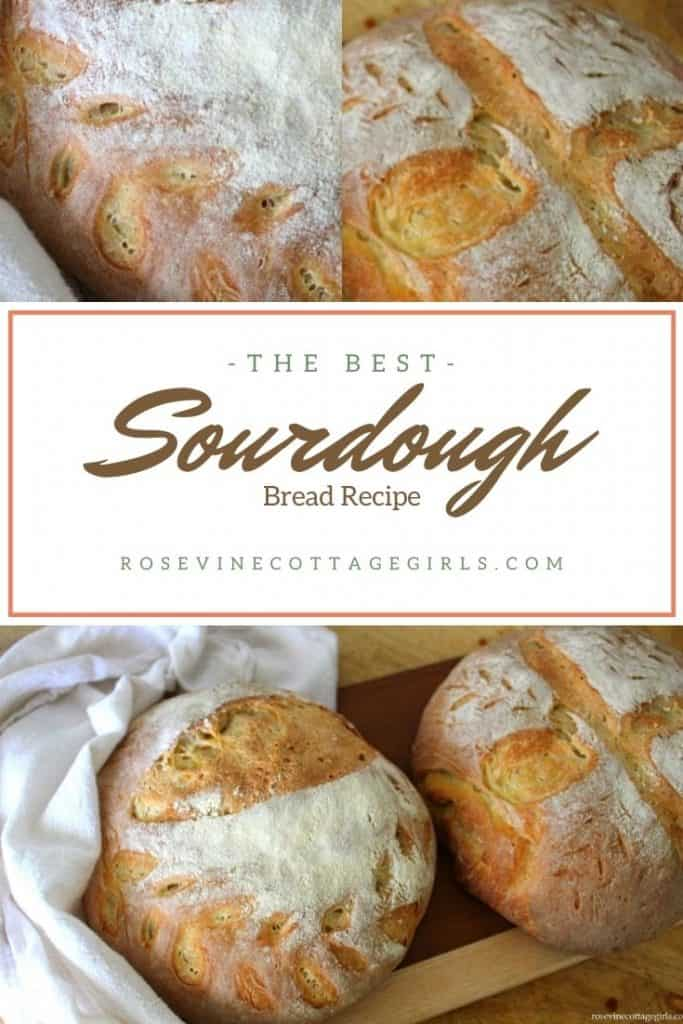 Sourdough bread wrapped in a towel on a cheese board | The Best Sourdough Bread Recipe