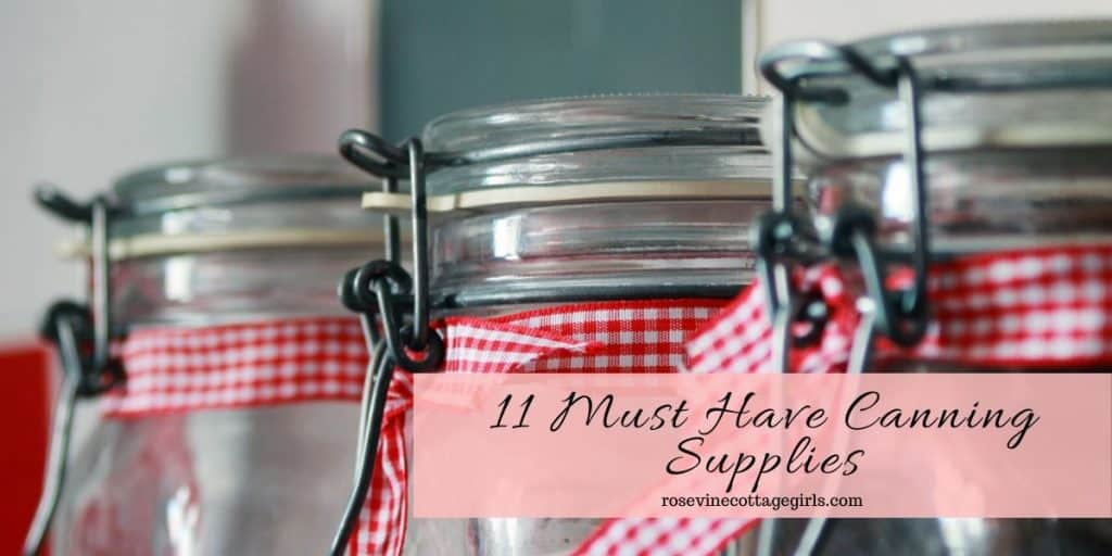 Jars with ribbons | canning supplies