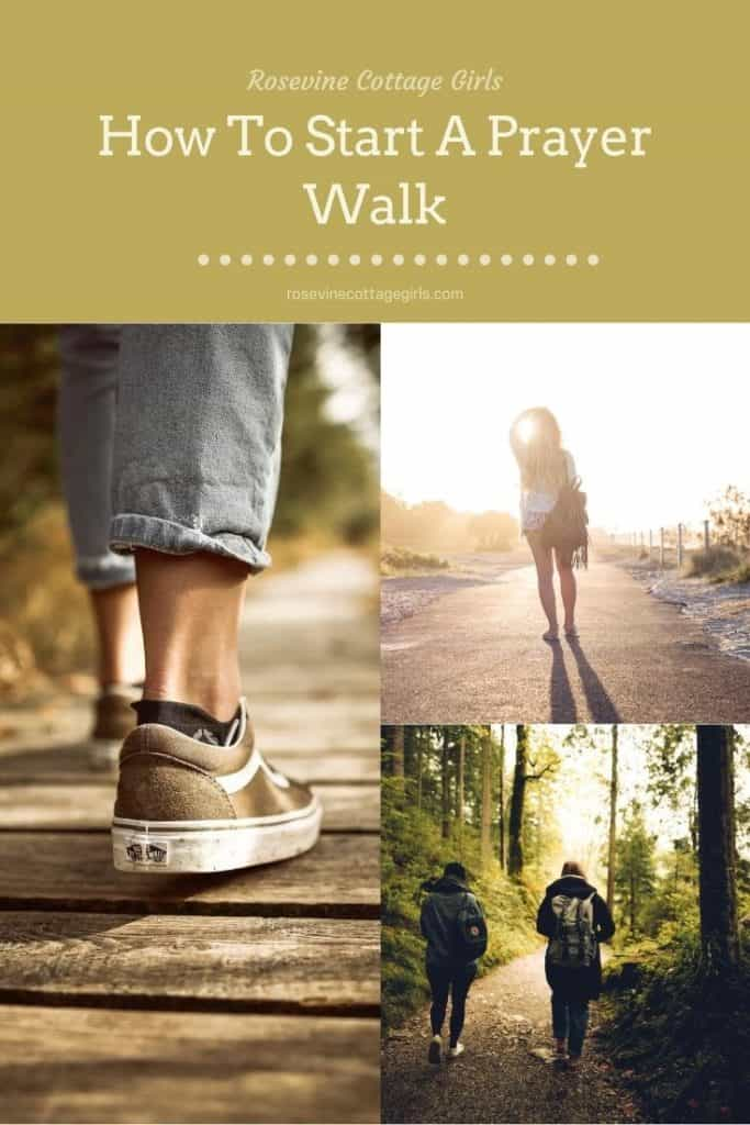 People walking | Why prayer walks are important and how to implement them in your prayer life #rosevinecottagegirls