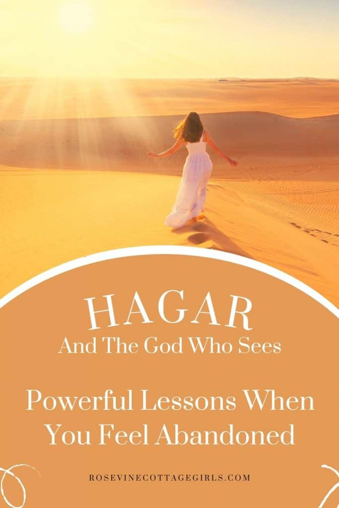 woman in a white dress standing in the desert. Powerful lessons from Hagar and the God who sees