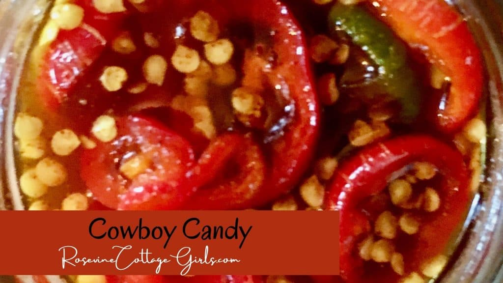 Cowboy candy | open jar of candied jalapenos
